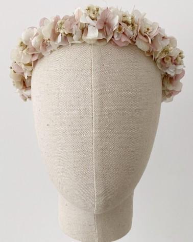 Corona diadema de flor natural preservada