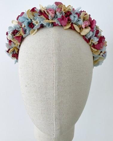 Diadema de flor natural preservada