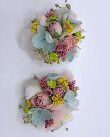 Pompones de flor preservada