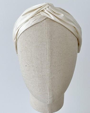 Diadema turbante de seda