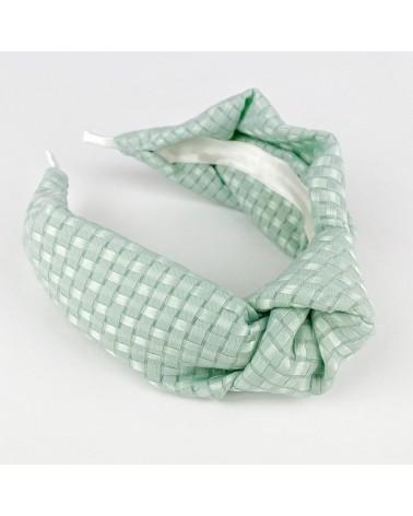 Diadema nudo verde mint